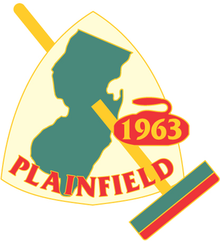 Current logo of the Plainfield Curling Club