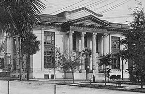 Jacksonville Public Library - Postcard featuring the Carnegie Library, ca. 1910.