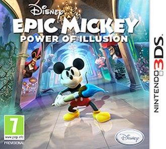 Epic Mickey: Power of Illusion - European cover art