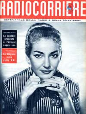 Radiocorriere - Cover of Radiocorriere, 26 June 1955