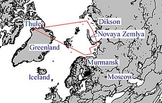 Reconnaissance route from Thule AB to Soviet Union Reconnaissance from Thule Air Base.jpg