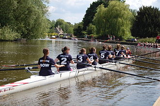 Regent's Park College, Oxford - A women's rowing crew from Regent's Park College Boat Club