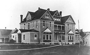 Royal Columbian Hospital - Royal Columbian Hospital in Sapperton location, circa 1903