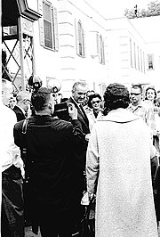 LBJ visits Shriners Hospital in Portland, Oregon, in September 1964