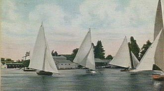 Lake Wendouree - Sailing boats on the lake in 1905.