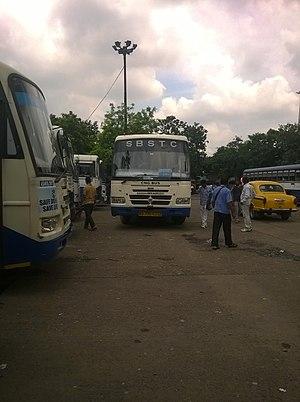 South Bengal State Transport Corporation - A New CNG Model just arrived in Esplanade, Kolkata depot.