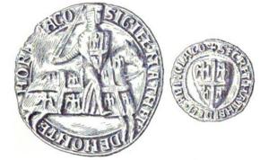 Matthew II of Montmorency - Seal of Montmorency from before 1214
