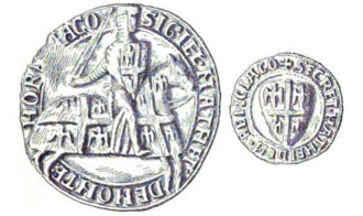 Matthew II of Montmorency - Seal of Montmorency from before 1214
