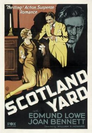 Scotland Yard (1930 film) - Theatrical release poster