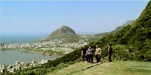 Walk On (U2 song) - U2 in Rio de Janeiro. Screenshot from the international video.