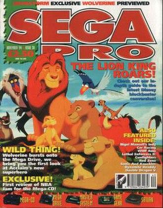 Sega Pro - Sega Pro cover, issue 38, November 1994