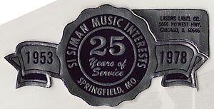 Si Siman - Silver anniversary envelope label