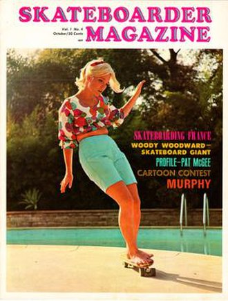 Skateboarder (magazine) - October 1965 cover