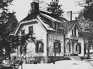 Springside (Poughkeepsie, New York) - The gardener's cottage, since dismantled and removed.