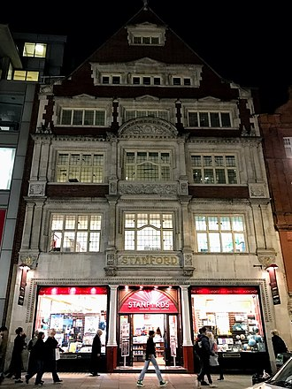 Stanfords - The main frontage in Long Acre
