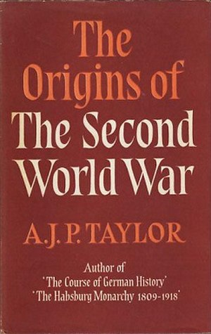 The Origins of the Second World War - Cover of the first edition