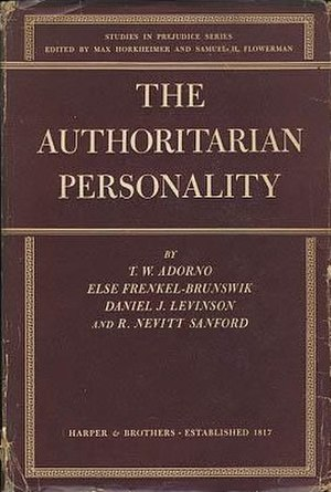 The Authoritarian Personality - Cover of the first edition