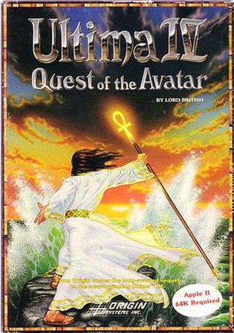 Ultima IV: Quest of the Avatar - Cover art
