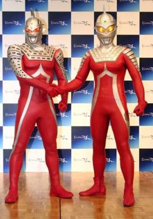 Ultraseven (character) - Ultraseven and Ultraseven X during the Ultraseven X press conference.