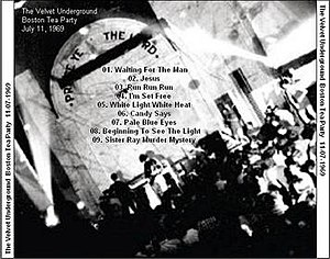 Boston Tea Party (concert venue) - Cover art for 1969 recording of the Velvet Underground at the Boston Tea Party
