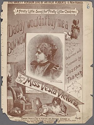 Daddy Wouldn't Buy Me a Bow Wow - Sheet music cover from 1892