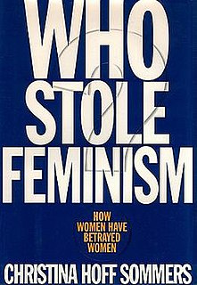<i>Who Stole Feminism?</i> 1994 book by Christina Hoff Sommers