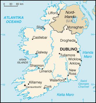 Mapo de Irlando