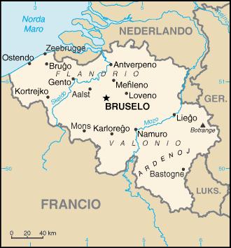 Mapo de Belgio