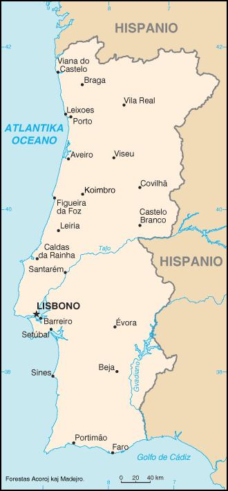 Mapo de Portugalio