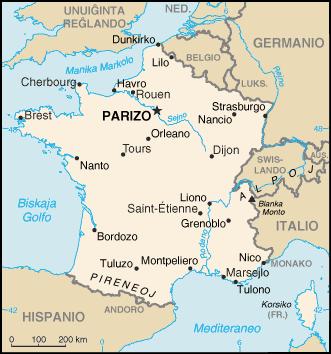 Mapo de Francio