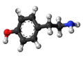 4-Hidroxyphenethylamine 3D.png