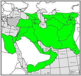 گستره شاهنشاهی ساسانی