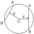 وتر بزرگتر به مرکز دایره نزدیکتر است