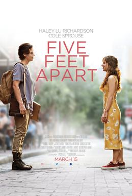 پوستر رسمی فیلم پنج فوت دور از هم