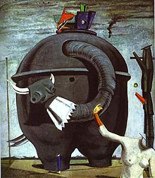 "Image of Ernst's 1921 painting, ""The Elephant Celebes"""