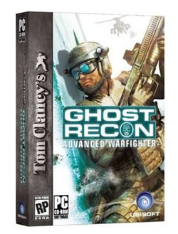 Box art of Tom Clancy's Ghost Recon Advanced Warfighter PC version