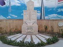 Armenian Genocide memorial in Saint Sarkis Cathedral, Tehran.jpg