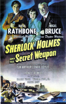 Sherlock Holmes and the Secret Weapon - 1943 - Poster.png