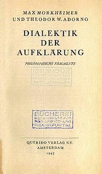 Dialectic of Enlightenment (German edition).jpg