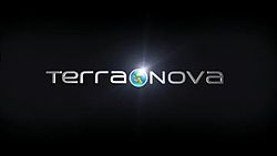 Terra Nova on either side of an earth logo, on a black screen.