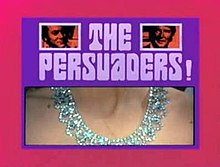 Series title with images of title characters and girl's neck with a diamond necklace