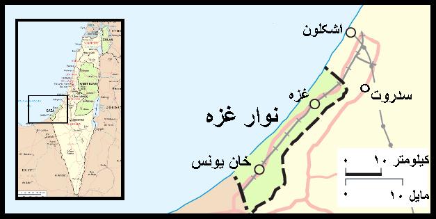 نقشهٔ نوار غزه