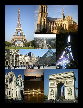 O\تعدادی از جاذبههای مشهور توریستی پاریس