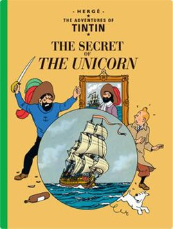 Captain Haddock is acting out as Sir Francis Haddock and Red Rackham to Tintin and Snowy.