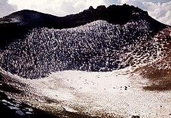 تصویری از دهانه آتشفشان سال ۱۳۷۳