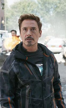 Robert Downey Jr. as Iron Man in Avengers Infinity War.jpg