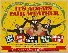 It's Always Fair Weather (1955 film) poster (yellow background).jpg