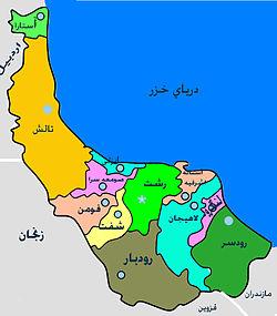 موقعیت شهرستان رودبار