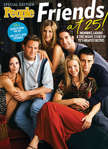 "Photograph of the TV series, ""Friends"" cast."