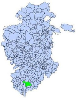 Location of Aranda de Duero municipality in Burgos province